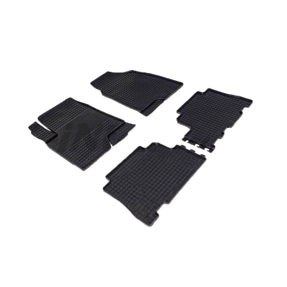 Rubber grid floor mats for Chevrolet Captiva I 2006 2008 2010 2011 Seintex 00325 rubber floor mats for chevrolet niva 2002 2004 2006 2008 2009 seintex 84834