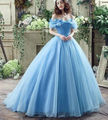 RF49 Inchado Do Aqua Light Blue Vestidos Quinceanera vestido de Baile Doce 16 Vestidos de Princesa do baile de Finalistas