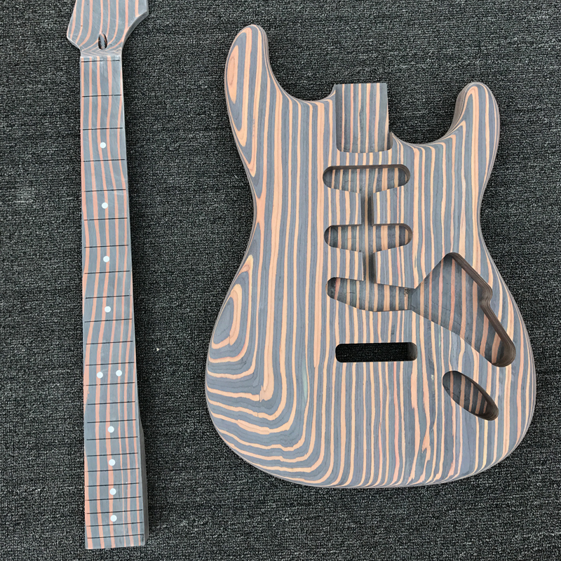 Zebrawood Electric Guitar Kit Unfinished Guitar