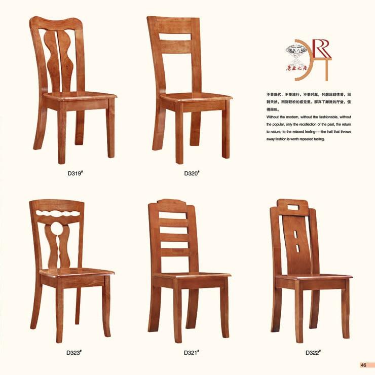 Sillas de madera para comedor juego de mesa y sillas en for Modelos de sillas de madera de comedor