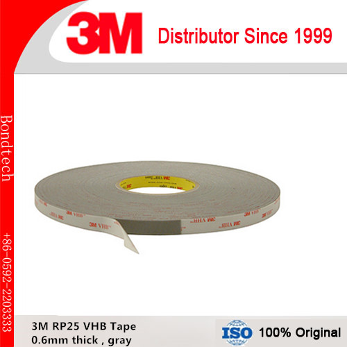 3M VHB acrylic tape RP25/ 3M VHB gray tape with 0.6mm thick, 10mmX33M/roll ,1roll/Lot кольца