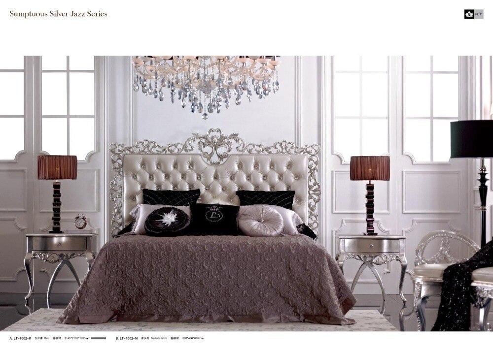 US $1168.0 |Camera da letto classica in antico funiture set argenteo mobili  camera da letto 0402 LT1002-in Set per camera da letto da Mobili su ...