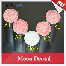 Высокое качество 1 kg/bag K1 K2 K3 очистить unbreakable зубные Материал валпласт гибкая акриловая смола Материал для протезов протез