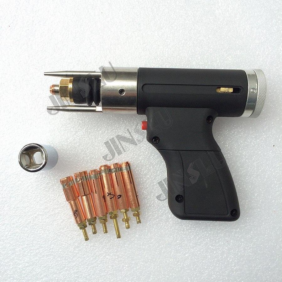 Разряда Конденсатора CD Стад сварочный пистолет факел M3 к M10 для приварки бесплатная 6 шт. цанговый сварочный аппарат части