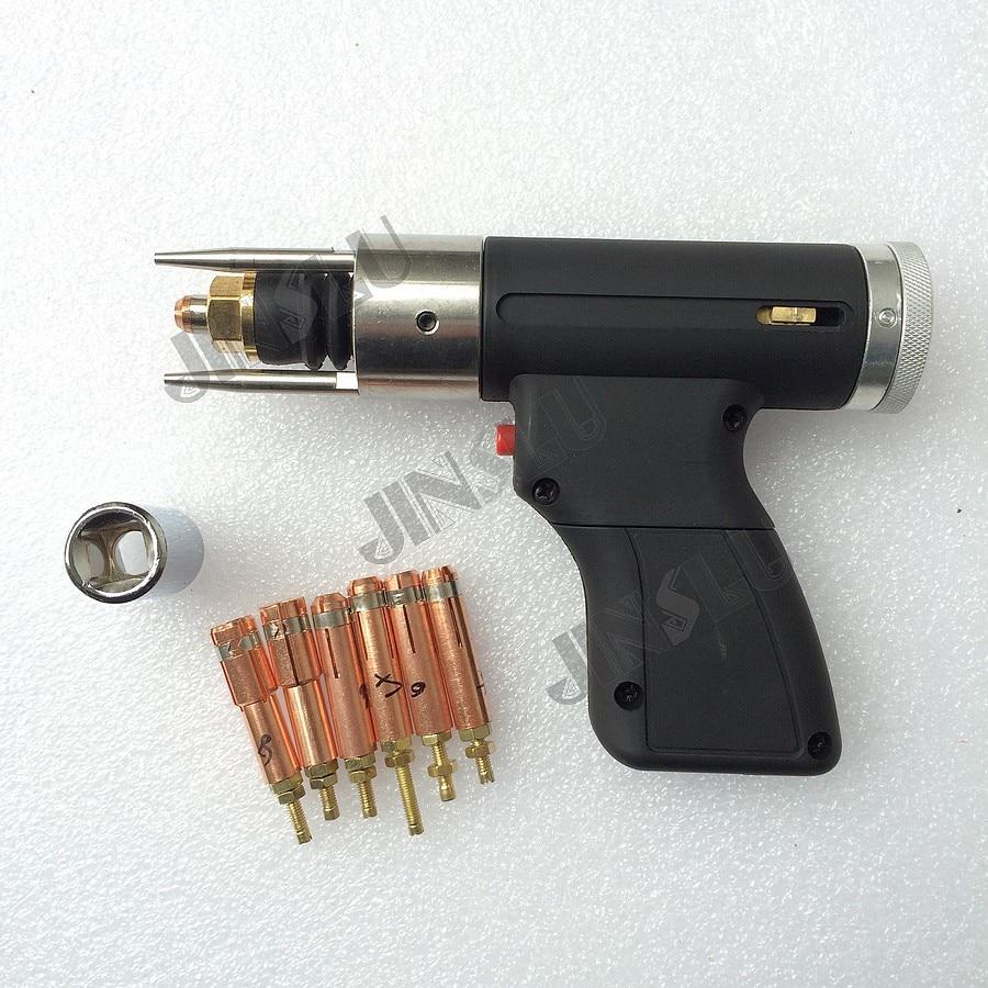 Condensateur Décharge Goujon Pistolet De Soudage Torche De Soudage M3 à M10 pour Goujon Sans Soudure 6 pcs Pince de soudage machine pièces