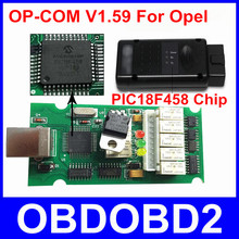Más Estable que V1.59 PIC18F458 Chip de Firmware V1.45 OPCOM OP-COM OPEL OP COM OBD2 OBDII Herramienta de Diagnóstico del Lector de Código