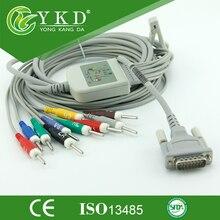 Electrocardiograph 10-lead Schiller EKG cable,AHA,Din 3.0 mm ,10 kom resistance plug end electrodes cable