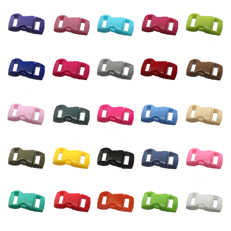 10pcs/lot Backpack plastic buckle POM pet safety clasp umbrella rope bracelet clasp suitable for 10mm wide webbing