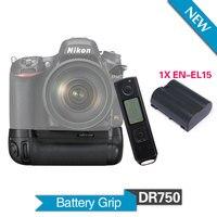 Meike MK DR750 батарейка с 1 шт. EN EL15 батарея для Nikon D750 DSLR камеры как MB D16 с 2,4G беспроводной пульт дистанционного управления