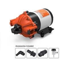 SEAFLO wysoki przepływ pompa wodna 12v 7.0 GPM 60PSI podwodny silnik elektryczny samochód kempingowy pompa morska