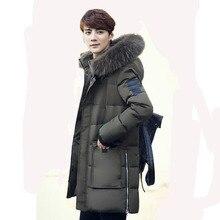 Brand Design Winter Jacket Men 80% White Duck Down Long Jackets Keep Warm Coat Men's Thick Down Overcoat Outwear Parka Homme