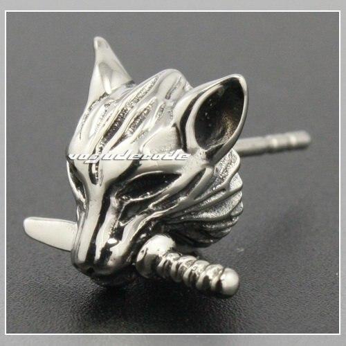 Cool 316l Stainless Steel Wolf Stud Earrings G003
