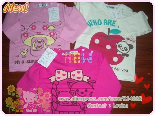 Экспорта Японии лучшее качество длинная рубашка малыша Пижама, длинные рукава, малыш пижамы. детский комплект/комплект одежды