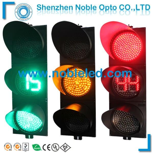 200mm solar traffic warning red yellow green light in traffic