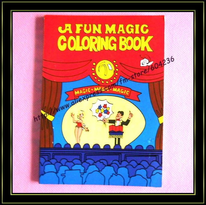 5pcs Lot Magic Cartoon Coloring Book Trick Free Shipping Size27521cm Tricks Wholesale