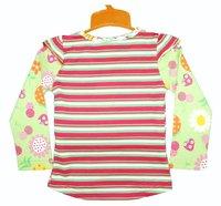 девушки мода блузки блузки мусора новый дизайн дети девушки с длинным рукавом малыш осень 6 размер / много 1-6лет