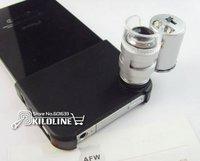 мини 60х микроскоп для iPhone или 4с с из светодиодов и уф-светильник