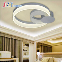 T 2 ring Acrylic Simple ceiling lights 48W Sweety Creative Artistic lamps with LED chip for bedroom living room best price!!