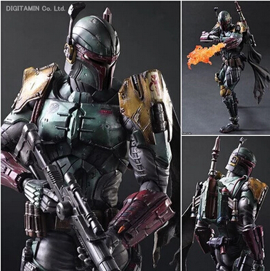 Playarts KAI Star Wars NO.2 Boba Fett PVC Action Figure Collectible Model Toy 28cm  T3023  funko pop star wars boba fett 08 pvc action figure collectible model toy 12cm fkfg126 retail box sp050