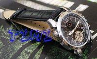 новый авто механик tourbilon дата мужские черные часы