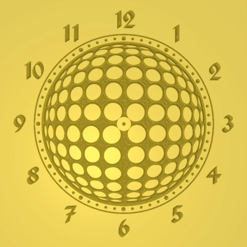 3d model New Wall Clock 8 for cnc in STL and dxf file format