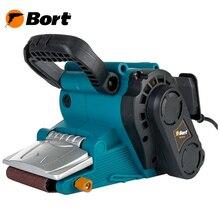 Машина шлифовальная ленточная Bort BBS-801N (регулируемая рукоятка, шлифование в труднодоступных местах, плавная регулировка скорости, быстрая замена ленты)
