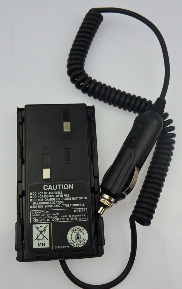 <font><b>TK</b></font> <font><b>3107</b></font> walkie talkie charger battery 12V eliminator car charger for portable two way radio transceiver TK2107 free shipping image