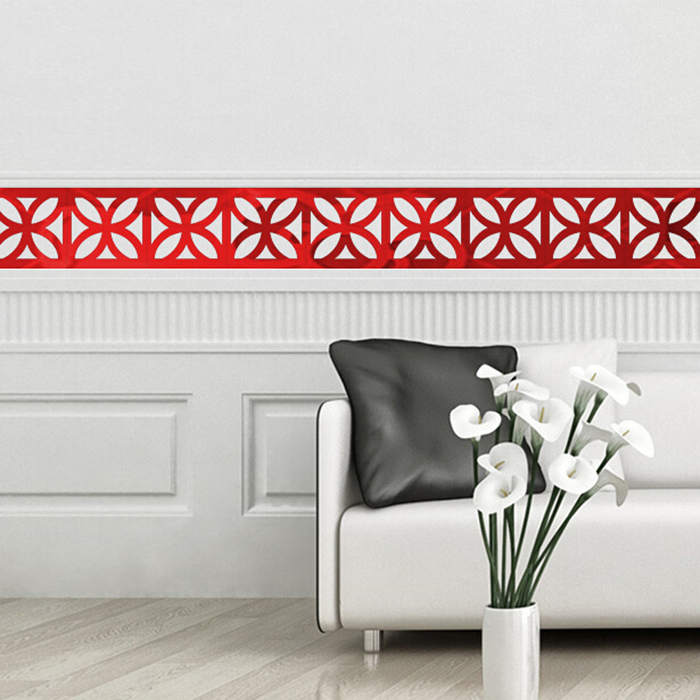 10pcs 10x10cm DIY Wall Mirror Acrylic Mirrored Decorative Wall ...