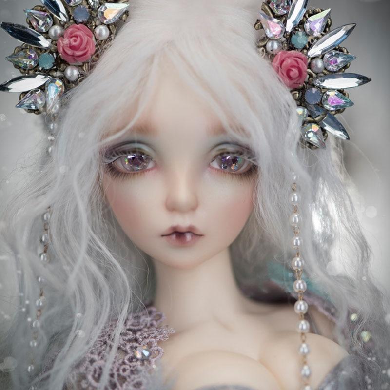 Oueneifs SIA Русалка Fairyline Fairyland 1/4 БЖД куклы СД модель Reborn для мальчиков и девочек глаза высокое качество игрушки макияж Магазин Смолы