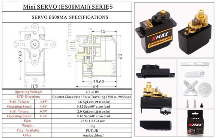 Servo motor mg995 datasheet for Servo motor specifications pdf