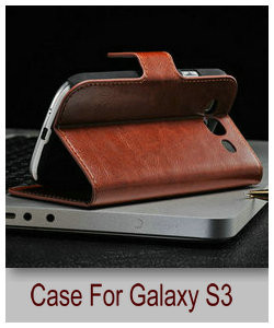роскошные ума-лошадь кожаный бумажник чехол для samsung i9300 из кредитная карта чехол для галактики SIII с DHL бесплатная доставка сумки мех