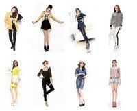 бесплатная доставка! весной новый корейский институт ретро стиль атмосфера женщина пункт с короткими рукавами футболка jss011300
