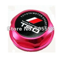 бесплатная доставка маслозаливной алюминиевая крышка для Тойота, цвет красный