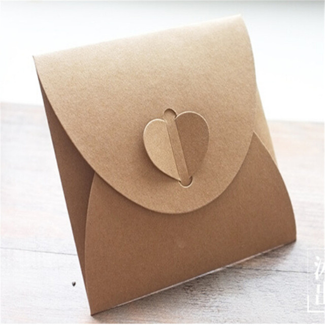 24pcs lot handmade craft paper envelope love heart 5 1inch square