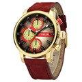 Mens relógios top marca de luxo CURREN 2016 3 ATM relógio de pulso dos homens de negócios relógio De Quartzo-relógio à prova d' água, com caixa de presente 8170