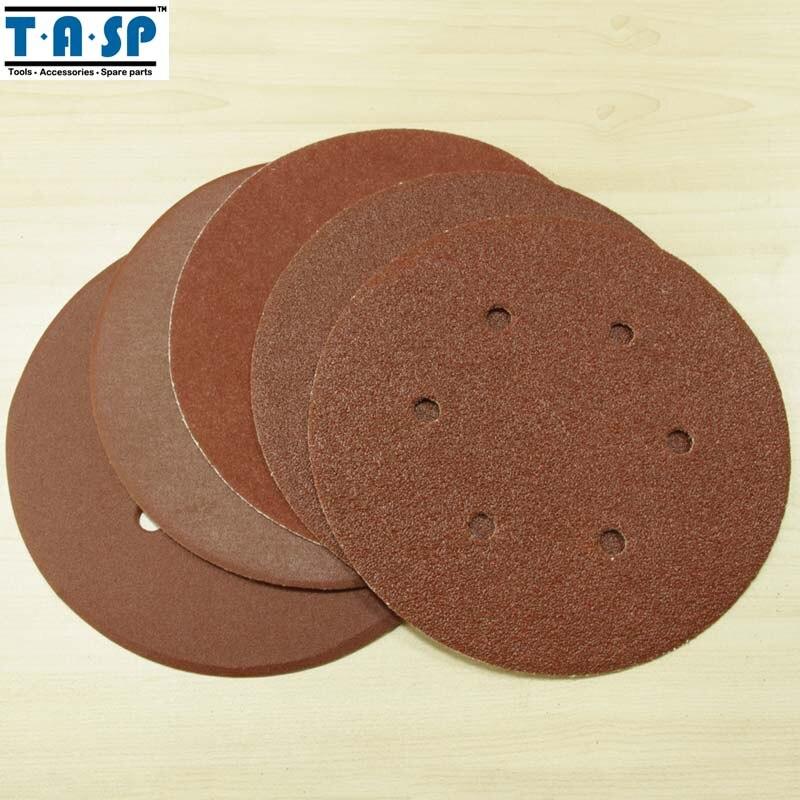 25PC 125mm 5-Inch Abrasive Sanding Paper Disc  8 Hole Hook /& Loop 60~320 Grits