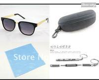 розничная новый бесплатная доставка ретро мужской супер черные пластиковые очки мужчины золотой очки ноги очки очки uv400 се dt0192