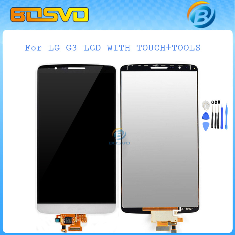 FREE DHL EMS shipping 5 pieces a lot replacement display for LG G3 D855 lcd with touch screen digitizer assembly d850 d855+tools