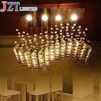 M Foyer Bedroom Living Dinning Crystal Ceiling Light Lamp Surface Mounted Oblong Rectangular Wave Crystal Ceiling