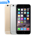 Telefones celulares original desbloqueado apple iphone 6 ios ips 1 gb ram 16/64/128 gb rom gsm wcdma lte usado telefone celular