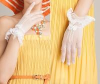 kursheuel женская сексуальная короткие перчатки наручные кружева уф-защита солнцезащитный свадебные гольф вождения по борьбе с уф летом скольжению