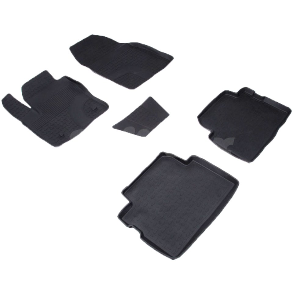 лучшая цена For Ford Kuga 2008-2012 rubber floor mats into saloon 5 pcs/set Seintex 01320