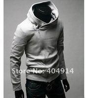 тёплый мужчины толстовки пальто молния вверх верхняя одежда высокая воротник пальто куртки мужчины одежда мужчины в пальто-пыльник