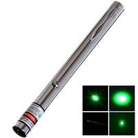 акция! skylasers 5 мвт 532 нм открытого назад яркий серебряный сталь зеленый лазер указка, зеленый лазер ручка бесплатная доставка