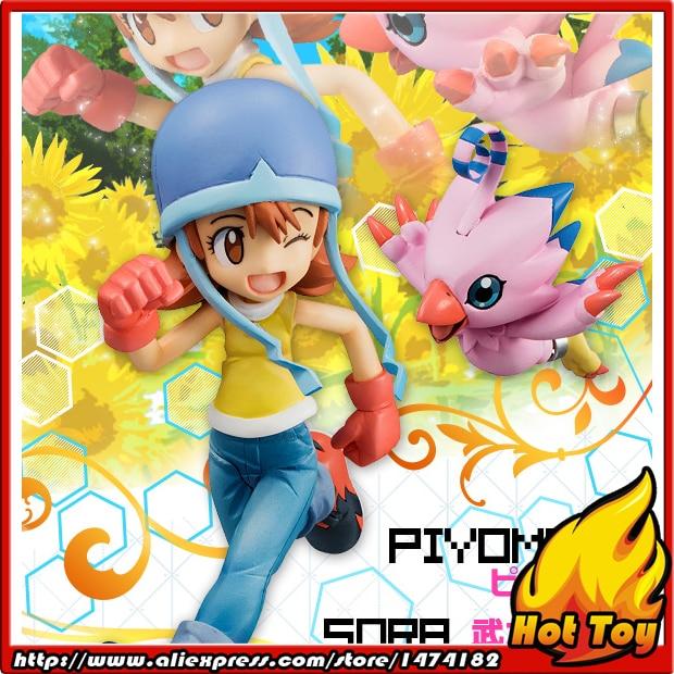 100% Original MegaHouse G.E.M. Complete Figure - Sora Takenouchi & Piyomon from Digimon Adventure 100% original megahouse g e m remix complete figure uzumaki naruto