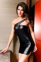 новый, бесплатная доставка, сексуальное одно плечо платье, модное платье, 9097 п