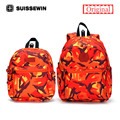 Suissewin mochila pai-filho set set família moda colorida mochila anti-lost bebê mochila criança saco de escola dos miúdos