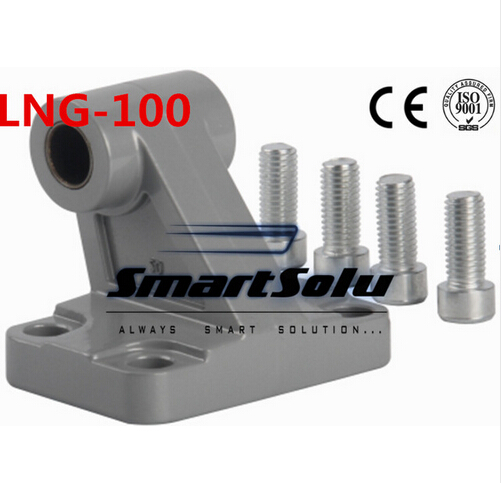 Free Shipping 5pcs/lots LNG -100 ISO6431 cylinder attachment, inclined installation of the support, DNC, SE cylinder accessories attachment and mentoring functions of career and psychosocial support