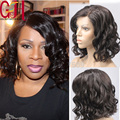 Short Cut Glueless Full Lace Wigs Natural Wavy Bob Lace Front Human Hair Wigs With Baby Hair Brazilian Virgin Hair Lace Wigs