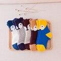 2017 Unisex baby socks newborn cotton baby boys  socks cute animal pattern baby girls socks toddler Asymmetry Anti-slip Socks